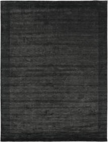 Handloom Frame - Svart/Mörkgrå Matta 300X400 Modern Mörkgrå/Mörkgrön Stor (Ull, Indien)