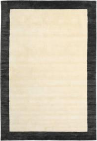 Handloom Frame - Svart/Vit Matta 300X400 Modern Beige/Mörkgrå Stor (Ull, Indien)