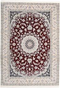 Nain 9La Matta 246X380 Äkta Orientalisk Handknuten Ljusgrå/Beige (Ull/Silke, Persien/Iran)