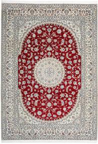 Nain 9La Matta 246X345 Äkta Orientalisk Handknuten Ljusgrå/Beige (Ull/Silke, Persien/Iran)