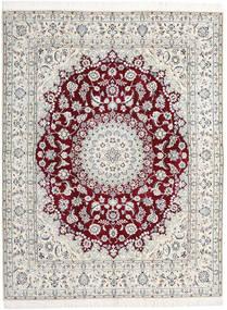 Nain 9La Matta 198X258 Äkta Orientalisk Handknuten Ljusgrå/Beige (Ull/Silke, Persien/Iran)