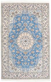 Nain 9La Matta 158X250 Äkta Orientalisk Handknuten Ljusgrå/Beige/Ljusblå (Ull/Silke, Persien/Iran)