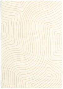 Woodyland - Beige Matta 160X230 Modern Beige/Vit/Cremefärgad (Ull, Indien)