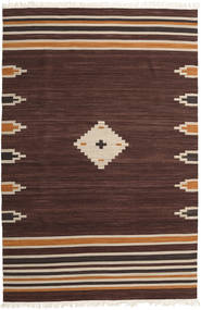 Tribal - Brun Matta 200X300 Äkta Modern Handvävd Mörkbrun (Ull, Indien)