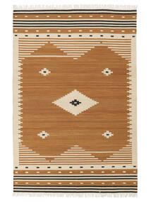 Tribal - Senap Matta 140X200 Äkta Modern Handvävd Brun/Ljusbrun (Ull, Indien)