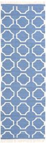 London - Blå/Naturvit Matta 80X250 Äkta Modern Handvävd Hallmatta Blå/Vit/Cremefärgad (Ull, Indien)