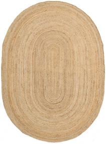 Frida Oval - Natural Matta 140X200 Äkta Modern Handvävd Mörkbeige/Beige ( Indien)