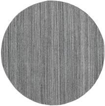 Petra - Dark_Mix Matta Ø 200 Äkta Modern Handvävd Rund Ljusgrå/Mörkgrå/Blå ( Indien)