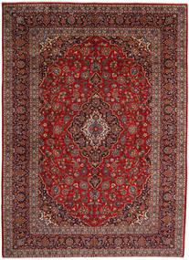 Keshan Matta 297X410 Äkta Orientalisk Handknuten Mörkröd/Mörkgrå Stor (Ull, Persien/Iran)