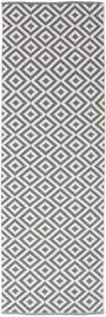 Torun - Grå/Neutral Matta 80X250 Äkta Modern Handvävd Hallmatta Ljusgrå/Ljuslila (Bomull, Indien)