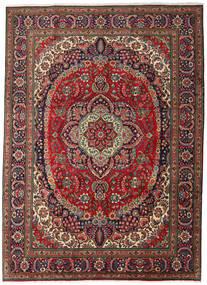 Tabriz Matta 247X344 Äkta Orientalisk Handknuten Mörkbrun/Mörkröd (Ull, Persien/Iran)