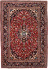 Keshan Matta 241X349 Äkta Orientalisk Handknuten Mörkröd/Mörkbrun (Ull, Persien/Iran)