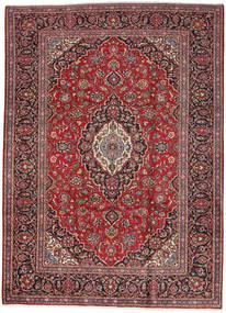 Keshan Matta 249X347 Äkta Orientalisk Handknuten Mörkröd/Mörkbrun (Ull, Persien/Iran)