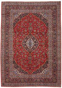 Keshan Matta 243X340 Äkta Orientalisk Handknuten Mörkröd/Mörkbrun (Ull, Persien/Iran)