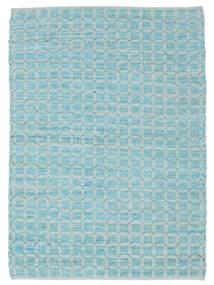 Elna - Bright_Blue Matta 140X200 Äkta Modern Handvävd Ljusblå/Turkosblå (Bomull, Indien)