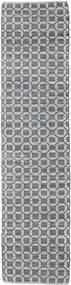 Elna - Grå Matta 80X350 Äkta Modern Handvävd Hallmatta Ljusgrå/Lila (Bomull, Indien)