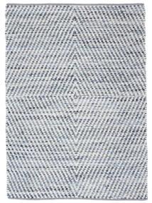 Hilda - Denim/Vit Matta 170X240 Äkta Modern Handvävd Beige/Ljusblå (Bomull, Indien)
