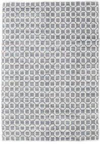 Elna - Grå Matta 200X300 Äkta Modern Handvävd Ljusgrå/Vit/Cremefärgad (Bomull, Indien)