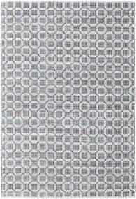 Elna - Grå Matta 170X240 Äkta Modern Handvävd Ljusgrå/Ljusblå (Bomull, Indien)