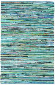 Ronja - Grön Mix Matta 140X200 Äkta Modern Handvävd Turkosblå/Ljusblå (Bomull, Indien)