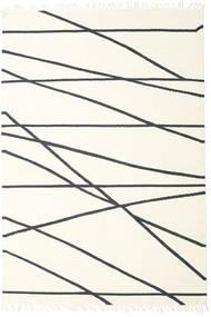 Cross Lines - Naturvit/Svart Matta 200X300 Äkta Modern Handvävd Beige/Vit/Cremefärgad (Ull, Indien)