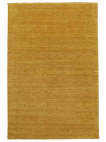 Handloom Fringes - Gul Matta 160X230 Modern Gul/Ljusbrun (Ull, Indien)
