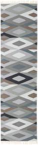 Zimba - Grå Matta 80X300 Äkta Modern Handvävd Hallmatta Ljusgrå/Mörkgrå (Ull, Indien)