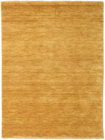 Handloom Fringes - Gul Matta 140X200 Modern Ljusbrun/Gul (Ull, Indien)