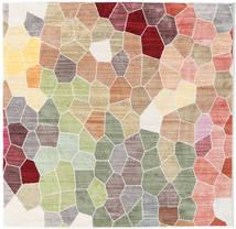 Play Of Colours Matta 150X150 Modern Kvadratisk Ljusgrå/Beige ( Turkiet)