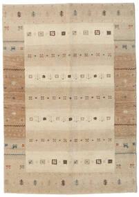 Gabbeh Indisk Matta 138X198 Äkta Modern Handknuten Hallmatta Beige/Ljusgrå (Ull, Indien)
