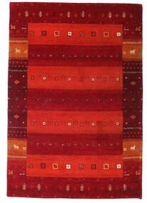 Gabbeh Indisk Matta 137X199 Äkta Modern Handknuten Mörkröd/Roströd/Röd (Ull, Indien)