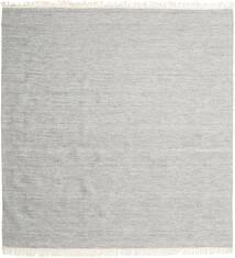 Melerad - Grå Matta 300X300 Äkta Modern Handvävd Kvadratisk Ljusgrå Stor (Ull, Indien)
