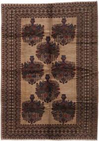 Beluch Matta 205X295 Äkta Orientalisk Handknuten Mörkbrun/Brun (Ull, Afghanistan)