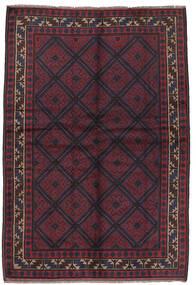 Beluch Matta 156X235 Äkta Orientalisk Handknuten Mörkblå/Mörkröd (Ull, Afghanistan)