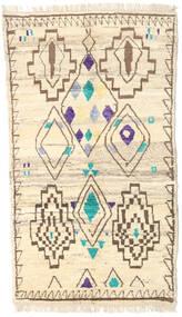 Moroccan Berber - Afghanistan Matta 112X193 Äkta Modern Handknuten Beige/Mörkbeige (Ull, Afghanistan)