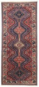 Yalameh Matta 80X195 Äkta Orientalisk Handknuten Hallmatta Mörkröd/Mörklila (Ull, Persien/Iran)