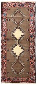 Yalameh Matta 85X200 Äkta Orientalisk Handknuten Hallmatta Mörkbrun/Brun (Ull, Persien/Iran)