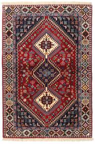 Yalameh Matta 103X151 Äkta Orientalisk Handknuten Mörkröd/Svart (Ull, Persien/Iran)