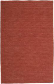 Kelim Loom - Rost Matta 300X500 Äkta Modern Handvävd Mörkröd Stor (Ull, Indien)
