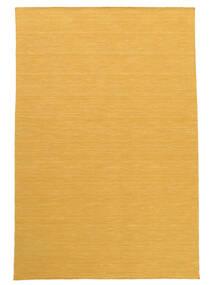Kelim Loom - Gul Matta 200X300 Äkta Modern Handvävd Ljusbrun/Mörkbeige (Ull, Indien)