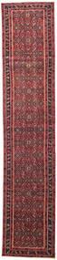 Hamadan Patina Matta 78X380 Äkta Orientalisk Handknuten Hallmatta Röd/Mörkröd (Ull, Persien/Iran)