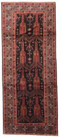 Beluch Matta 125X305 Äkta Orientalisk Handknuten Hallmatta Mörkröd/Svart (Ull, Persien/Iran)