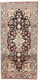 Kerman Matta 95X190 Äkta Orientalisk Handknuten Ljusbrun/Beige (Ull, Persien/Iran)