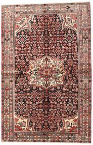 Hosseinabad Matta 145X223 Äkta Orientalisk Handknuten Mörkbrun/Brun (Ull, Persien/Iran)