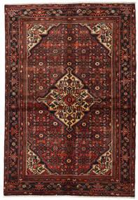 Hosseinabad Matta 154X220 Äkta Orientalisk Handknuten Mörkröd/Mörkbrun (Ull, Persien/Iran)