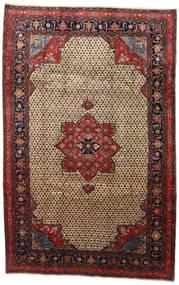 Songhor Matta 206X322 Äkta Orientalisk Handknuten Ljusbrun/Svart (Ull, Persien/Iran)