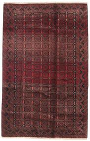 Beluch Matta 130X180 Äkta Orientalisk Handknuten Mörkbrun/Mörkröd (Ull, Persien/Iran)