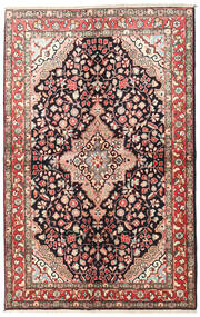 Jozan Matta 145X225 Äkta Orientalisk Handknuten Mörkbrun/Beige (Ull, Persien/Iran)