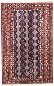 Beluch Patina Matta 132X206 Äkta Orientalisk Handknuten Mörklila/Beige (Ull, Persien/Iran)