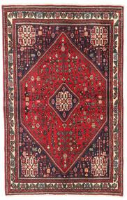 Abadeh Matta 104X163 Äkta Orientalisk Handknuten Röd/Mörkröd (Ull, Persien/Iran)